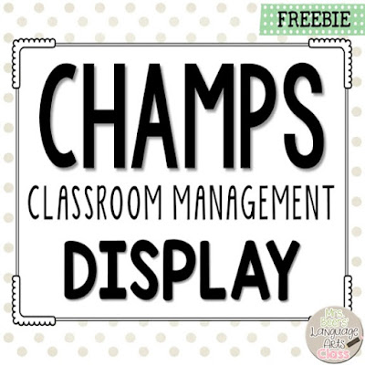 https://www.teacherspayteachers.com/Product/CHAMPS-Classroom-Management-Display-2020626