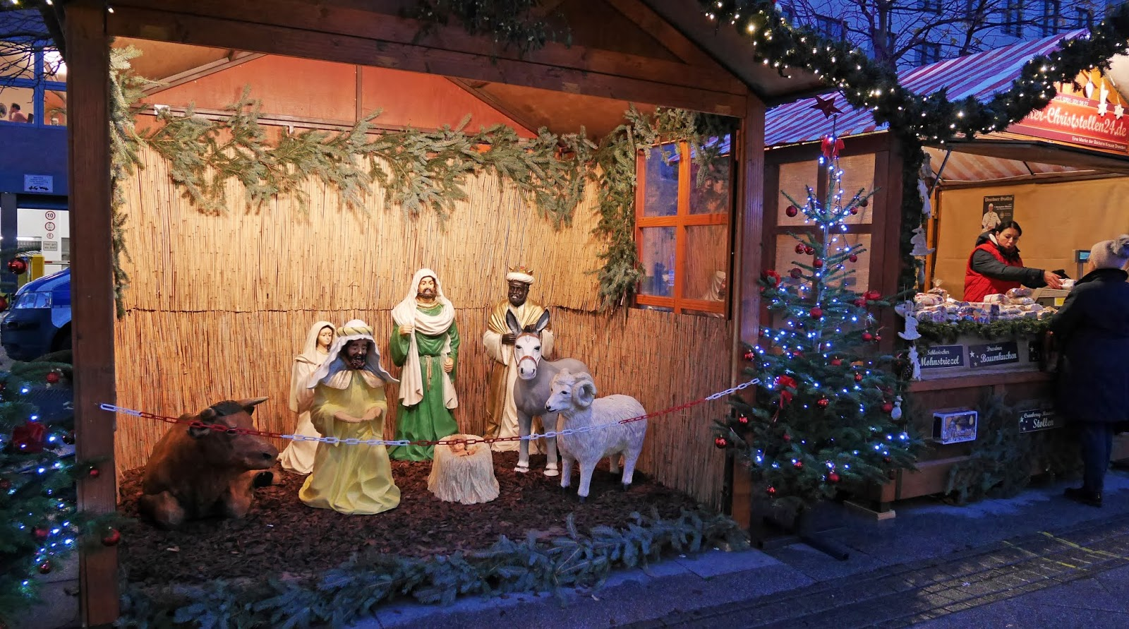 Nativity Scene at Friedrichstraße Station Christmas Market, Berlin