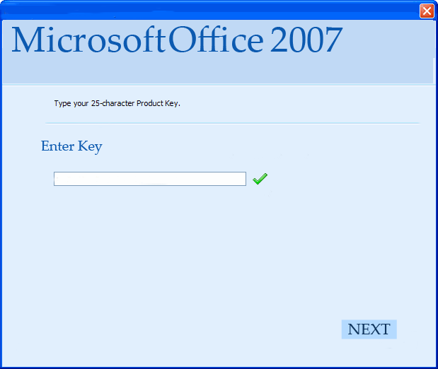 ms office 2007 pro key