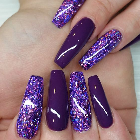 awesome glitter nail art design