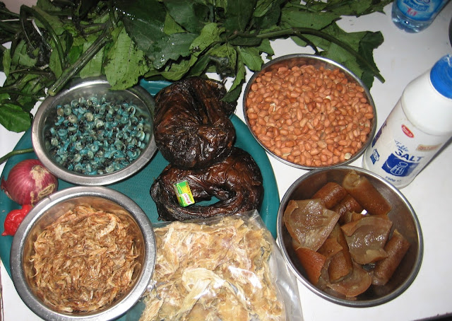 Ingredients for groundnut soup