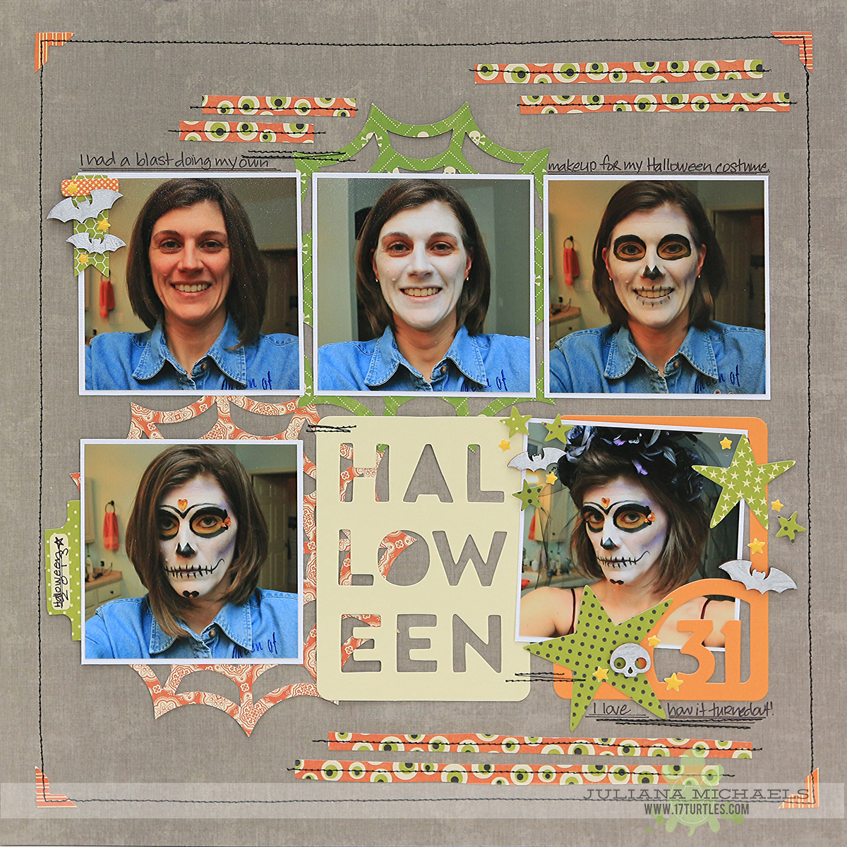 Halloween Scrapbook Page by Juliana Michaels featuring Jillibean Soup