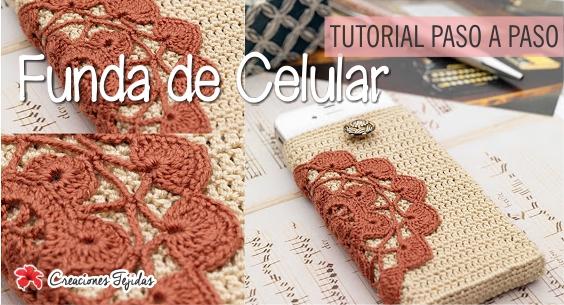 Funda de celular a Crochet