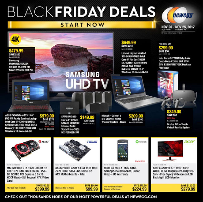 Newegg Black Friday 2017 Ad