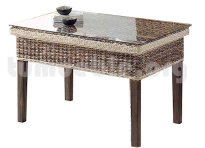 mesa de centro hecho en rettan natural j980