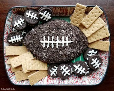 Tailgate Time! 20+ Favorite Recipes - Cookies & Cream Football Cheese Ball