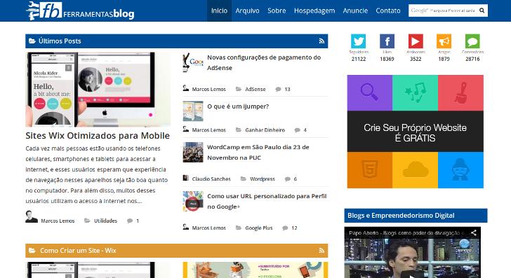 Ferramentas Blog em 26/12/2013