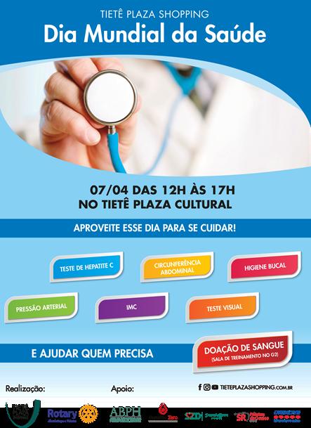 Tietê Plaza Shopping promove ação no Dia Mundial da Saúde
