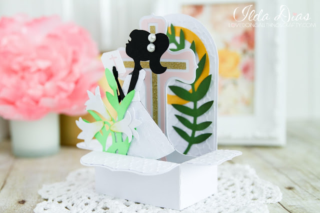 Easter,bible,#SVGCuts,church,ilovedoingallthingscrafty,you tube,cross,First Holy Communion,girl,Card,Religious,process video,handmade,Box card,SVGCuts,