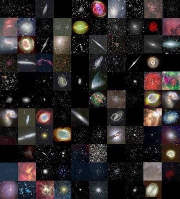 tiled mosaic of all the Caldwell deep sky objects
