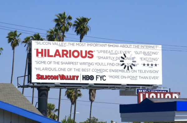 Silicon Valley season 5 Emmy FYC billboard