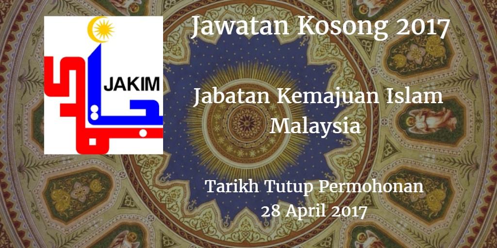 Jawatan Kosong JAKIM 28 April 2017