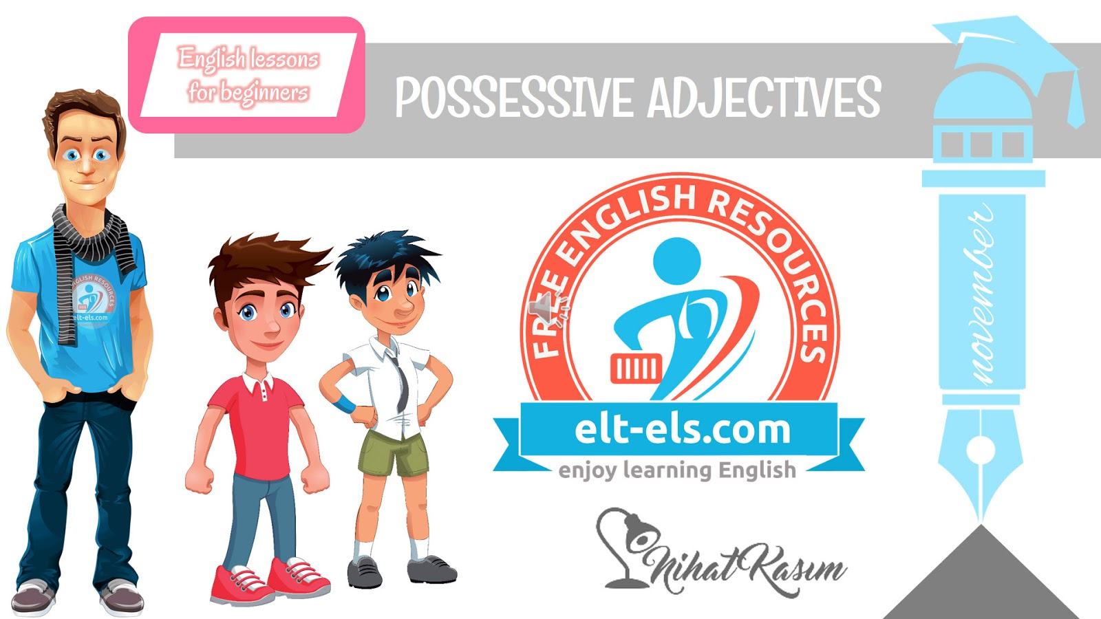 Video Lessons Possessive Adjectives