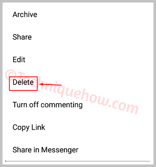 Delete a Photo from Instagram do