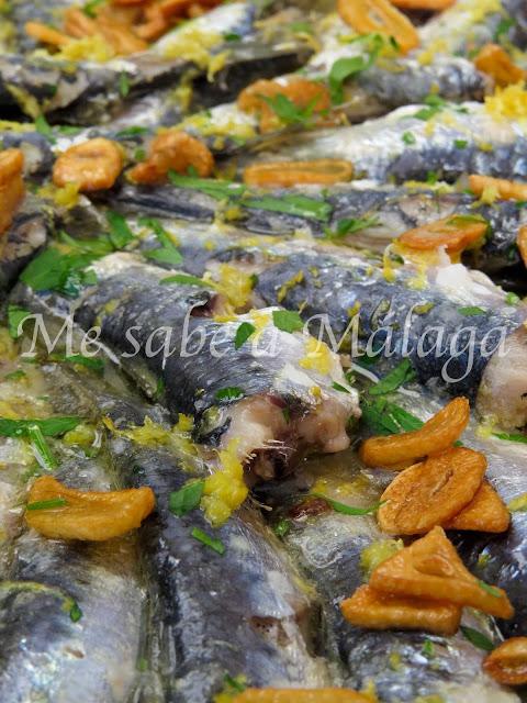 receta de sardinas malagueñas con ajo y limón
