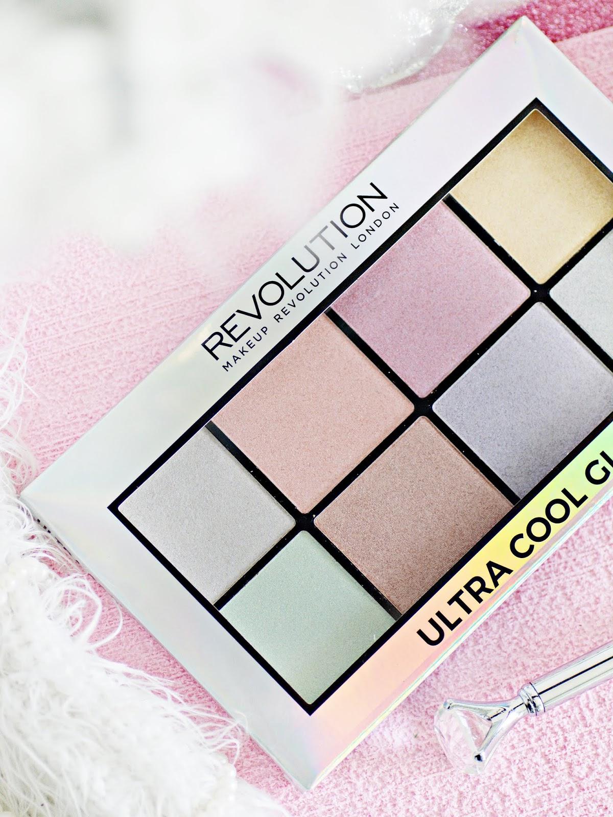 makijażowe nowości makeup revolution, paleta ultra cool glow