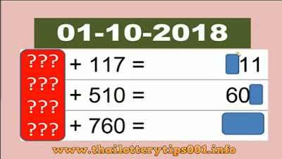 Thai lottery winning sure number digit 01 October 2018