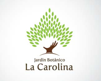 Nature logos 30 inspired leaf logo designs for Logos de jardines