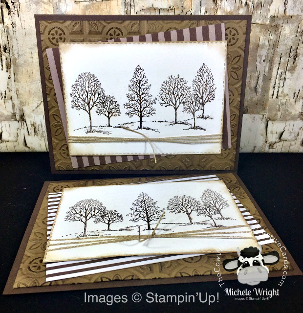 Card, Lovely as a Tree, Masculine, Tin Tile Embossing Folder