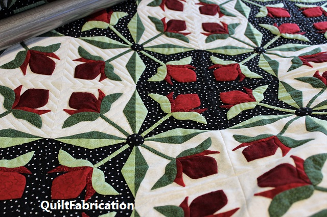 Mediterranean Rose quilting by QuiltFabrication