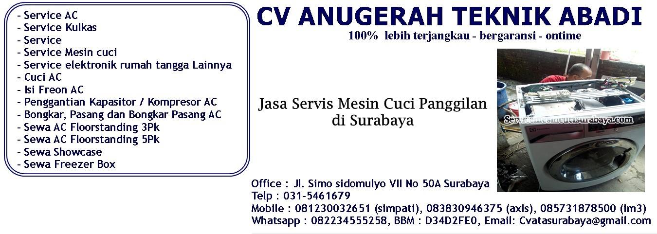 Jasa Service Mesin cuci Panggilan di Surabaya