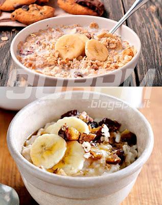 Porridge di fiocchi d'avena con aggiunta di frutta fresca