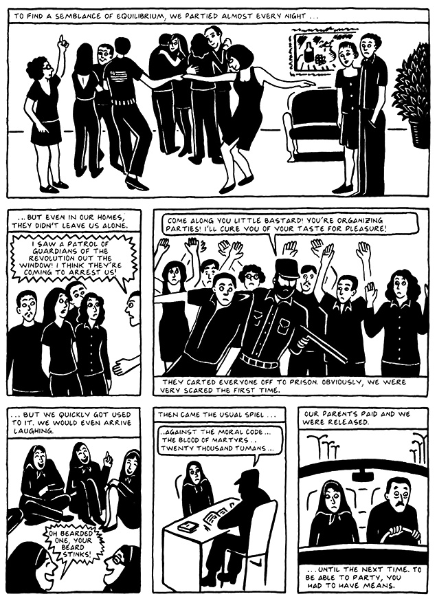 Read Chapter 16 - The Socks, page 152, from Marjane Satrapi's Persepolis 2 - The Story of a Return