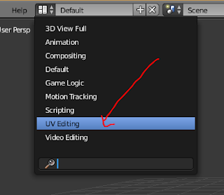 Menu UV Editing