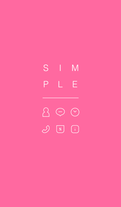 SIMPLE / pink.