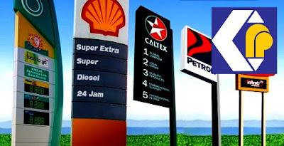 Harga Minyak Petrol RON95 RON97 Diesel Bulan November 2018
