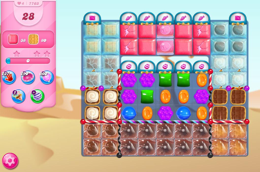 Candy Crush Saga level 7763