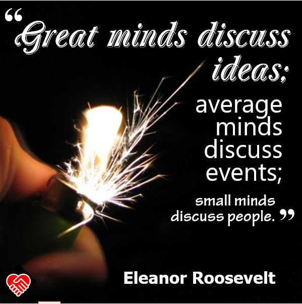Small Minds Discuss People Quote: Potent Quotables: Topics Of Discussion