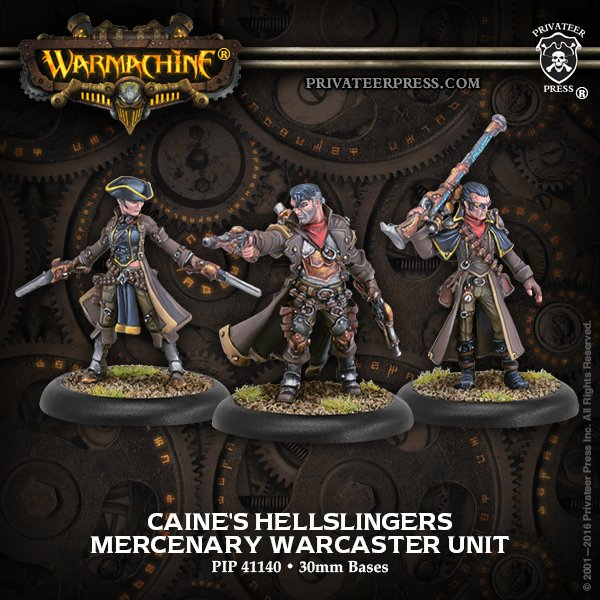 Privateer press: New Warmachine Caine's Hellslingers Mercenaries