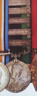 India General Service Medal with five clasps of Robin William George Stephens (From Medal News May 2014)