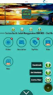 BBM Chat Me Slow Green Base v3.0.1.25 MOD APK Plus Ekstra Fitur