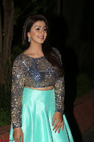Nikki Galrani in Green Skirt  Top at Marakathamani music launch ~  Exclusive (49).JPG