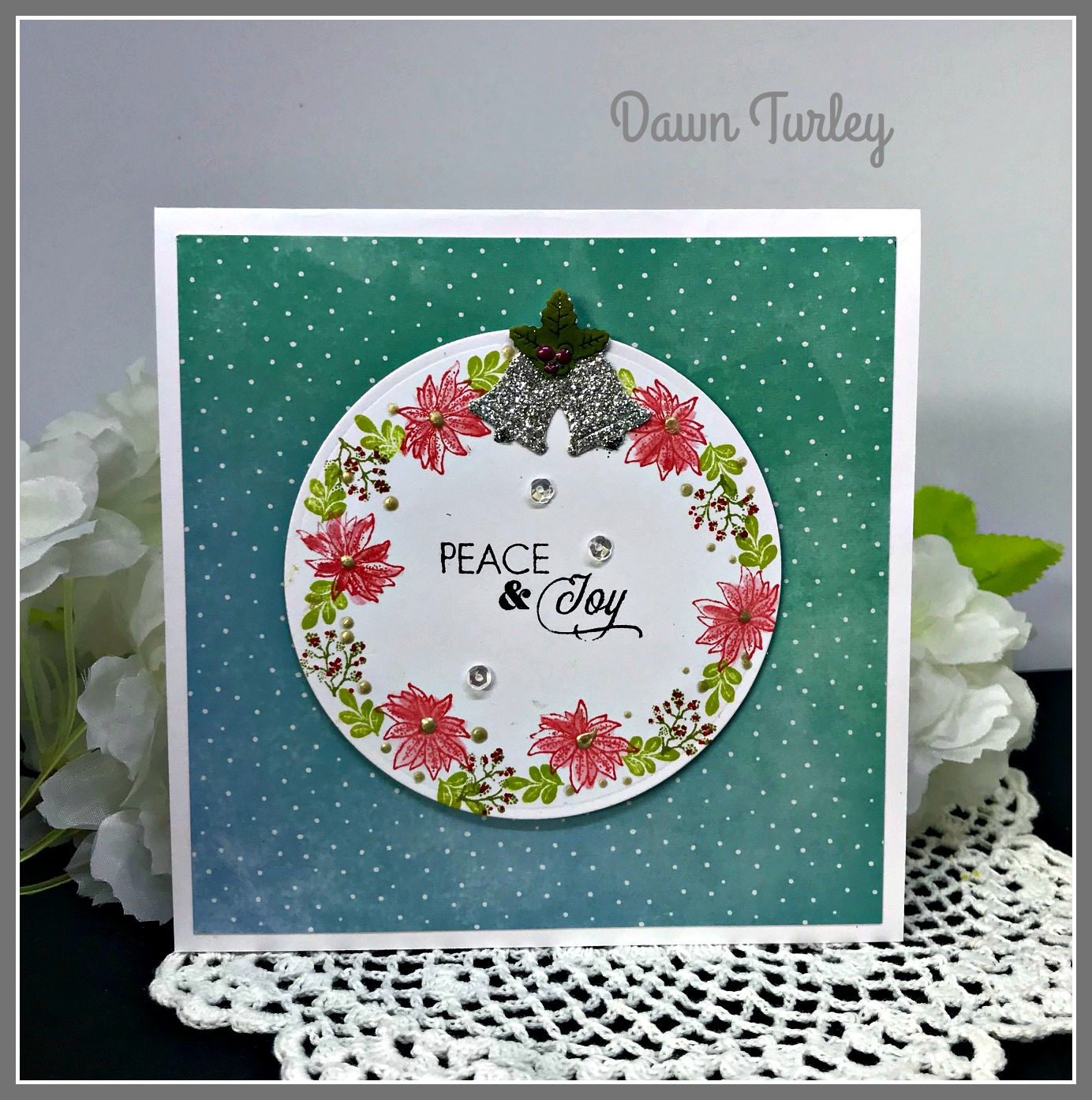 Engraved Flowers Altenew Clear Cling Stamp Set