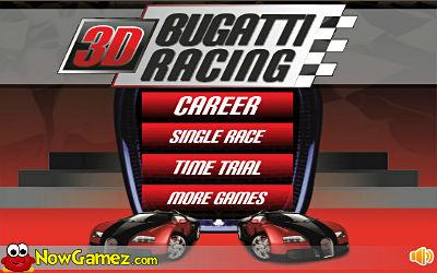 3D Bugatti Racing - Jeu de Course sur PC