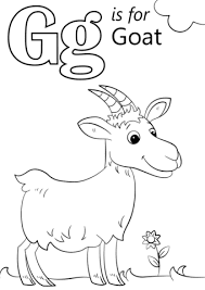 G For Goat Alphabet Coloring Pages Free Images