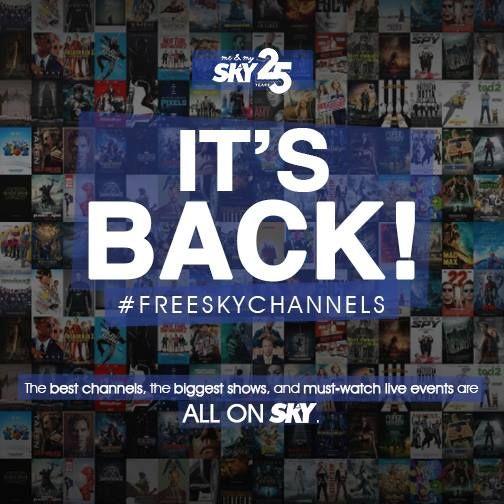 FREE SKY CHANNELS Promo