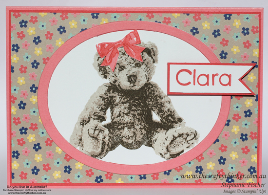 SU, sneak peek, Baby Bear, baby card, affectionately yours, the crafty thinker