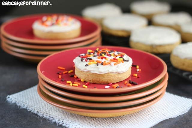 Eat Cake For Dinner: Bakery Style Pumpkin Sugar Cookies with Maple ...