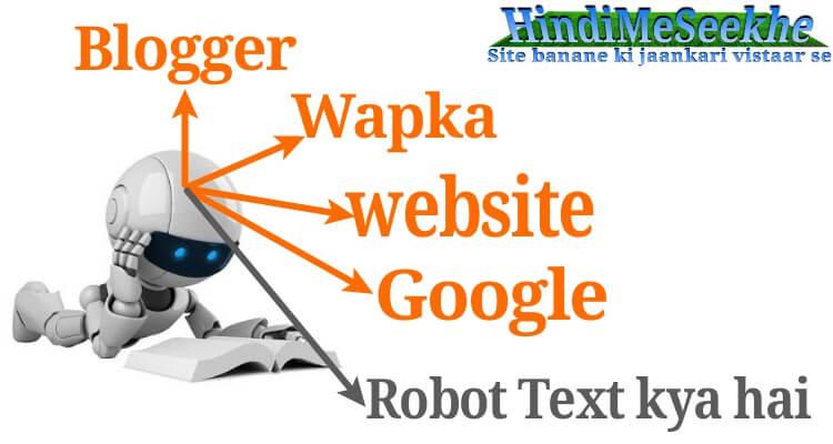 Robot Txt Kya Hai. Blogger Or Google Search Console Me