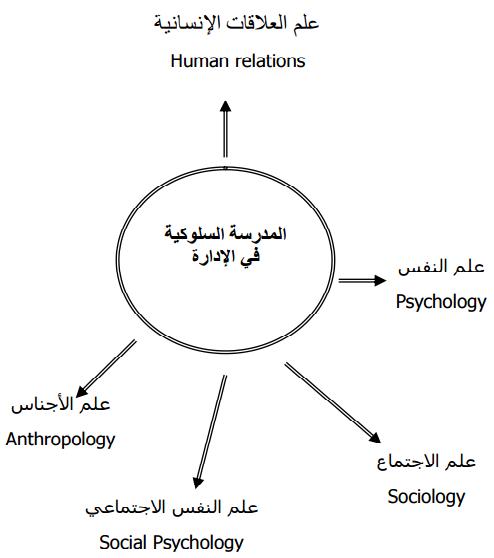 علاقة المدرسة السلوكية فى الادارة بالعلوم الاخرى