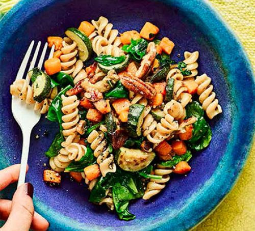 Squash & spinach fusilli with pecans ~ All Type of blogging Tips