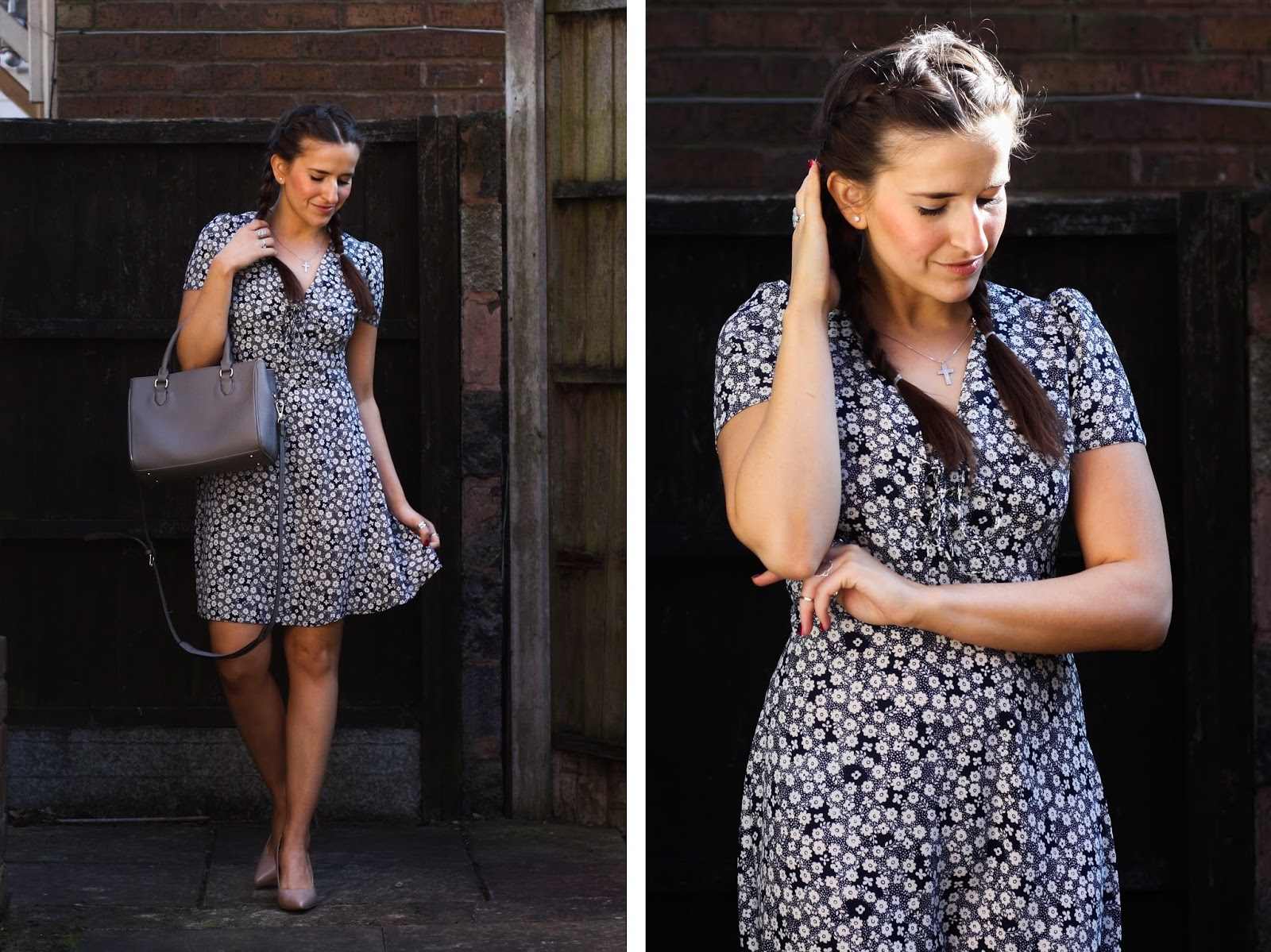 Spring dress from Primark & the perfect nude heels