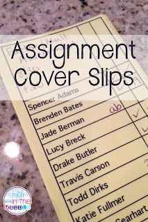 Use assignment cover slips to help with your paper management