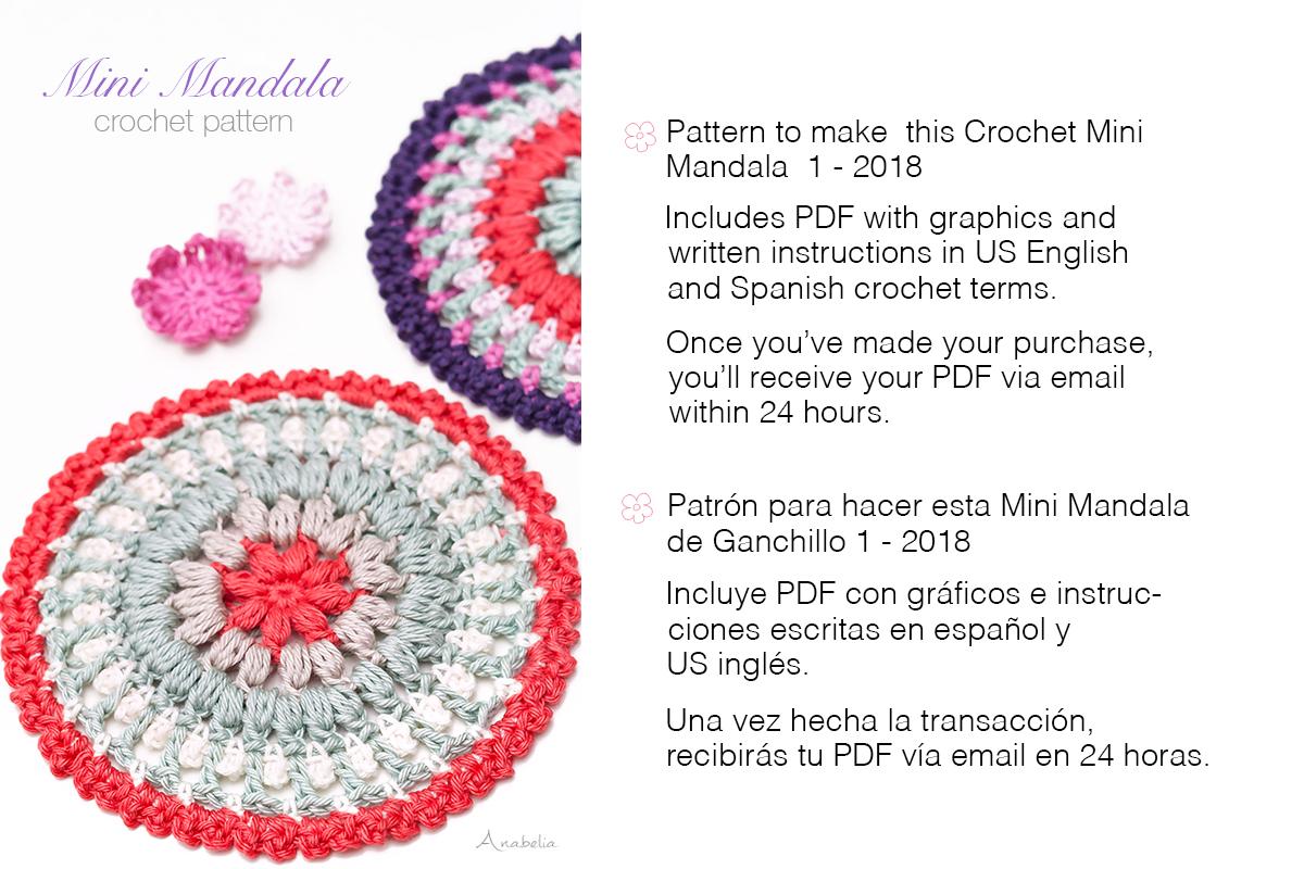 Anabelia craft design: Crochet Mini Mandala pattern