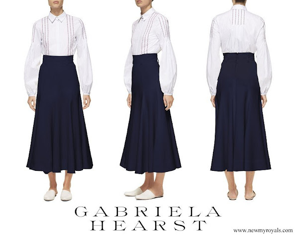 Countess Sophie wore GABRIELA HEARST Spencer stretch wool skirt