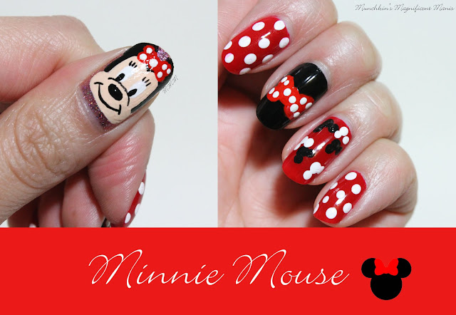 Minnie Mouse Nail Design